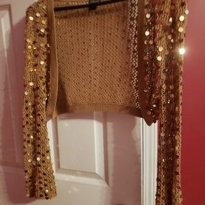 Sweaters - Medium embellished bolero